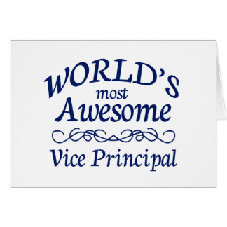 World's Most Awesome Vice Principal Greeting Card