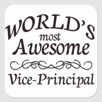 World's Most Awesome Vice Principal Square Sticker