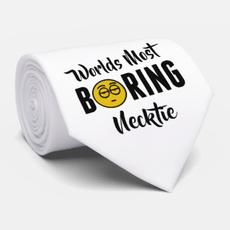 Worlds Most Boring Funny Emoji Novelty Tie