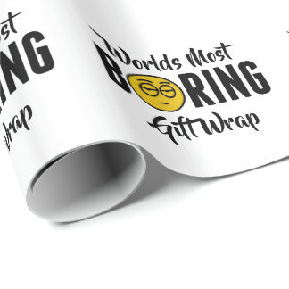 Worlds Most Boring Funny Emoji Novelty Wrapping Paper