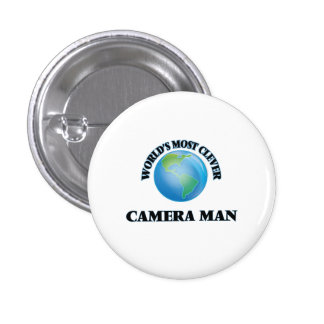 World's Most Clever Camera Man Buttons