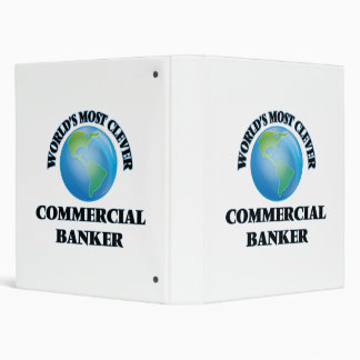 World's Most Clever Commercial Banker 3 Ring Binders