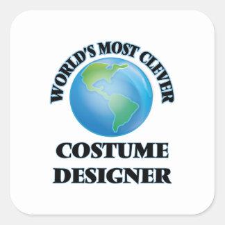World's Most Clever Costume Designer Square Sticker