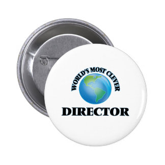 World's Most Clever Director Pinback Button