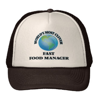 World's Most Clever Fast Food Manager Mesh Hat