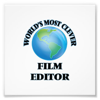 World's Most Clever Film Editor Art Photo