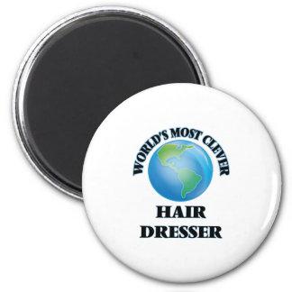 World's Most Clever Hair Dresser 2 Inch Round Magnet