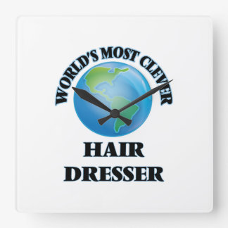 World's Most Clever Hair Dresser Square Wall Clock