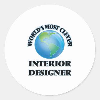 World's Most Clever Interior Designer Round Sticker