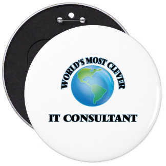 World's Most Clever It Consultant Buttons