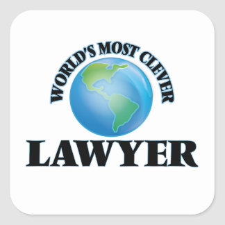 World's Most Clever Lawyer Square Sticker