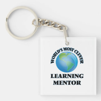 World's Most Clever Learning Mentor Square Acrylic Key Chain