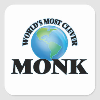 World's Most Clever Monk Square Stickers