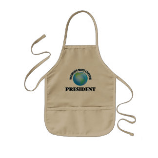 World's Most Clever President Aprons