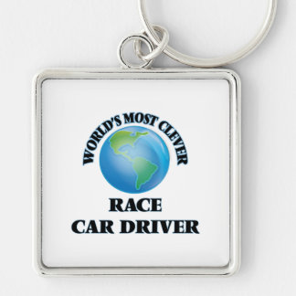 World's Most Clever Race Car Driver Key Chain