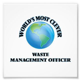 World's Most Clever Waste Management Officer Photo Art
