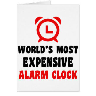 world's most expensive alarm clock card