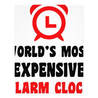 world's most expensive alarm clock letterhead