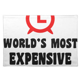 world's most expensive alarm clock place mats