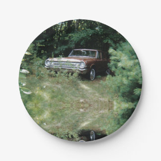 World's Most Haunted Car - The Goldeneagle - 1964 Paper Plate