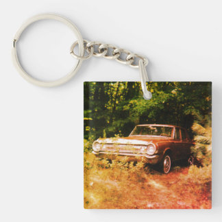Worlds Most Haunted Car - The Goldeneagle Double-Sided Square Acrylic Keychain