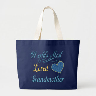 World's Most Loved Grandmother Large Tote Bag