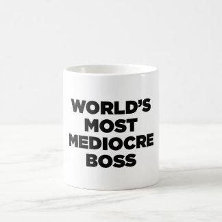World's Most Mediocre Boss Basic White Mug
