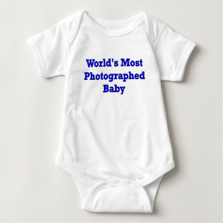 WORLDS MOST PHOTOGRAPHED BABY BOY BABY BODYSUIT