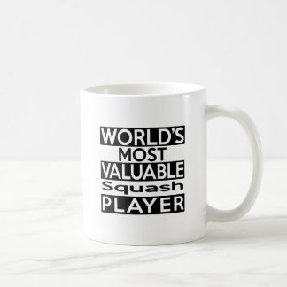 World's Most Valuable Squash Player Coffee Mug
