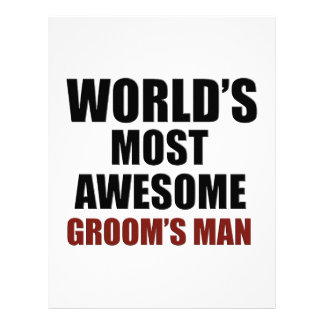 World's Most Wanted Groom's Man Customized Letterhead