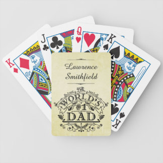 World's Number One Dad Vintage Flourish Bicycle Playing Cards