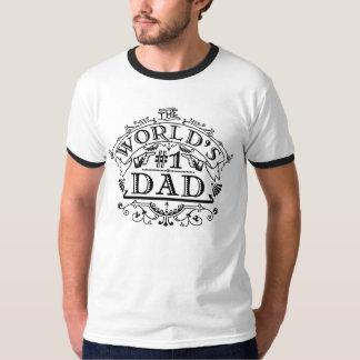 World's Number One Dad Vintage Flourish T-Shirt