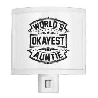 World's Okayest Auntie Night Lights
