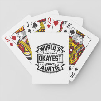 World's Okayest Auntie Playing Cards