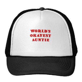 Worlds Okayest Auntie Trucker Hat