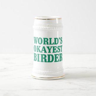 World's Okayest Birder Beer Stein