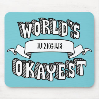 World's Okayest Blank Funny Text Mousepad
