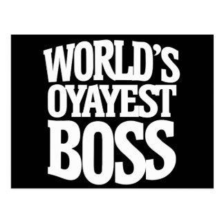 Worlds okayest boss for bosses day postcard
