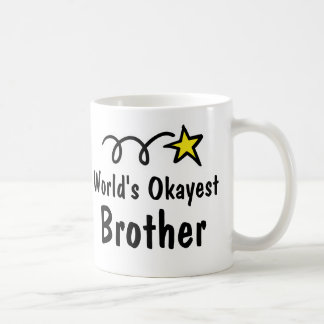 World's Okayest Brother Coffee Mug Gift