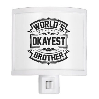 World's Okayest Brother Night Light