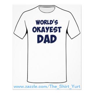 World's Okayest Dad Flyer Design