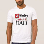 World's okayest dad humour father's day tee
