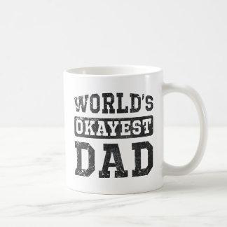 World's Okayest Dad Vintage Basic White Mug
