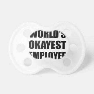 World's Okayest Employee Baby Pacifiers
