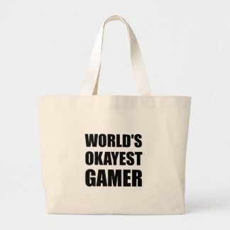 World's Okayest Gamer Large Tote Bag