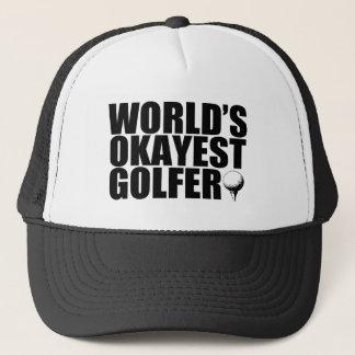 World's Okayest Golfer funny hat