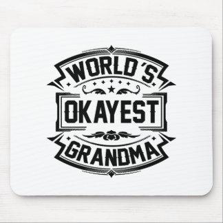 World's Okayest Grandma Mouse Pad