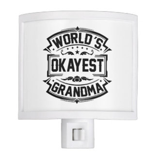 World's Okayest Grandma Night Light