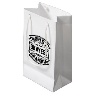 World's Okayest Grandma Small Gift Bag