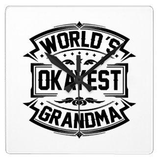 World's Okayest Grandma Square Wall Clock